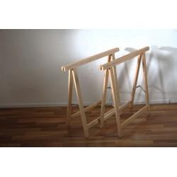 Klappbock-Set aus Buchenholz, 2 Stück Zubehör