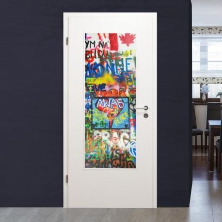 """Lichtausschnitt 1056-3 """"Graffiti Flagge"""" Verglasungen mit Digitaldruck"""