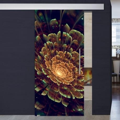 """Schiebetür 1002-1 """"Blume Abstrakt"""" mit soft-close Digitaldruck- Schiebetüren"""