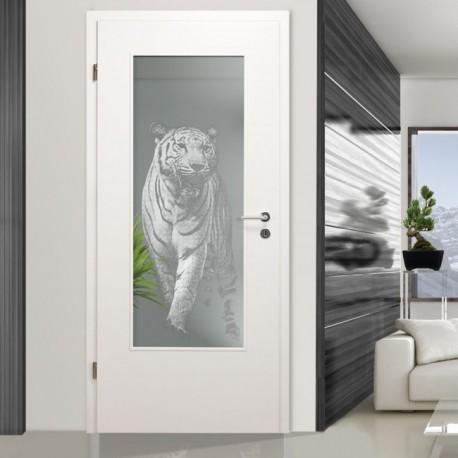 """LALD 012 F """"Panthera tigris"""" Verglasungen mit Lasergravur"""