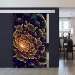 """XXL-Schiebetüre 1002-1 """"Blume Abstrakt"""""""