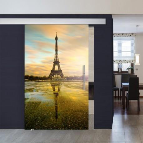 """XXL-Schiebetüre 1007-1 """"Eiffelturm"""" XXL Schiebetüren"""
