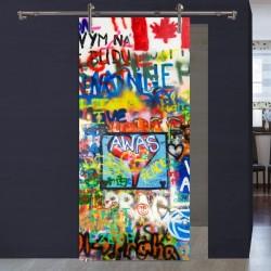 """Schiebetür 1056-3 """"Graffiti Flagge"""""""