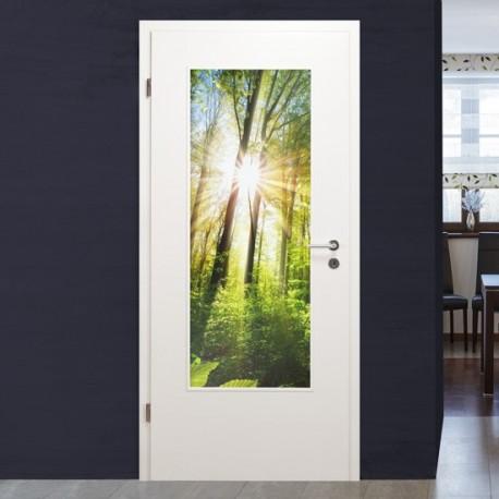 """Lichtausschnitt 1061-1 """"Wald"""" Verglasungen mit Digitaldruck"""