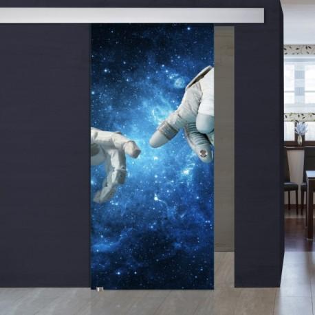 """Schiebetür 1050-1 """"Astronauten"""" Digitaldruck- Schiebetüren"""