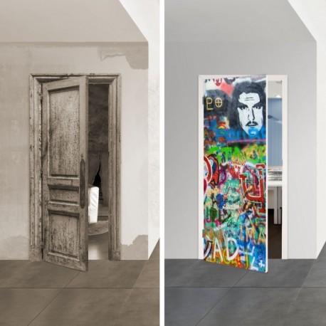 "Türposter 1056-4 ""Graffiti Mann"" selbstklebende Türfolien"