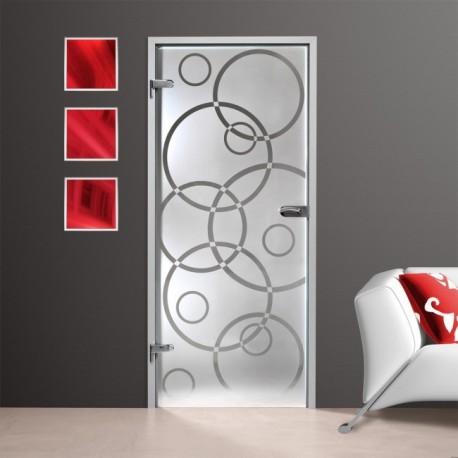 Glastür GS 255-F mit Siebdruck-Dekor HDS - Ganzglastür Einfache Motive