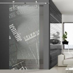 Glasschiebetür SLD 009 F 'Newspaper'