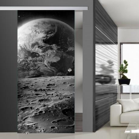 Glasschiebetür SLD 002 SW 'Erde' Schiebetüren mit Lasergravur