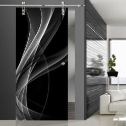 Glasschiebetür SLD 004 SW 'Nebel'