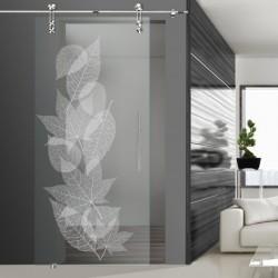 Glasschiebetür SLD 018 F 'Laub'