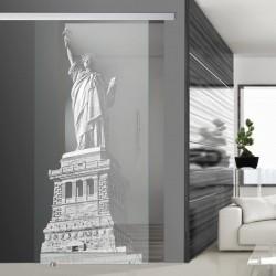 Glasschiebetür SLD 020 F 'Freiheitsstatue - NY'