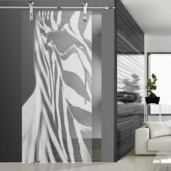 Glasschiebetür SLD 016 F 'Zebra'