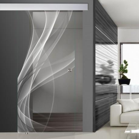 Glasschiebetür SLD 004 F 'Nebel'
