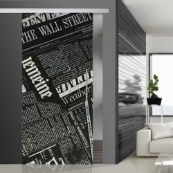 Glasschiebetür SLD 009 SW 'Newspaper'