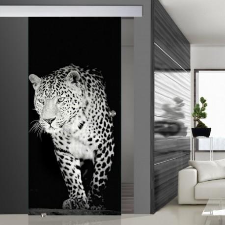 Glasschiebetür SLD 006 SW 'Jaguar' Schiebetüren mit Lasergravur
