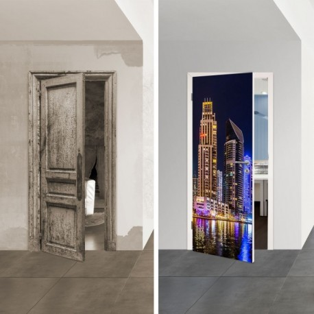 Türposter 1006-1 'Dubai' selbstklebende Türfolien