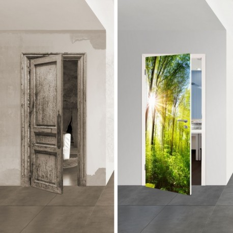 Türposter 1061-1 'Wald' selbstklebende Türfolien