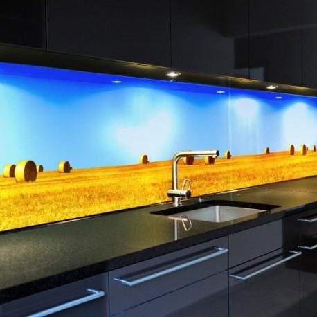 """Glasbild 1031-1 """"Stroh"""" Glasbilder / Küchenrückwände"""