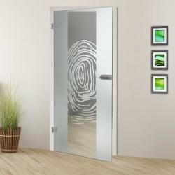Glastür Fingerprint 7006-F