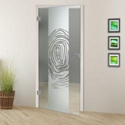 Glastür Fingerprint 7006-F2 Sandgestrahlt