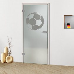 Glastür Ball Sandgestrahlt
