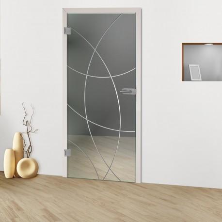 """Glastür """"Mandala 8000-F Rillenschliff-Glastüren"""