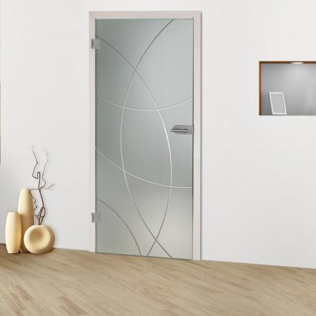 "Glastür ""Mandala 8000-S Rillenschliff-Glastüren"