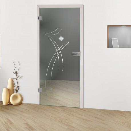 """Glastür """"Dynamic Duo 8007-F"""" Rillenschliff-Glastüren"""