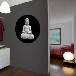 "Rundes Glasbild 1084-1 ""Buddha"""