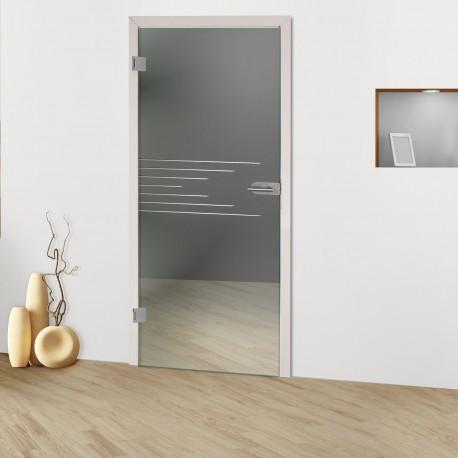 """Glastür """"Horizontal 8013-F"""" Rillenschliff-Glastüren"""