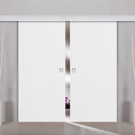 2flügliche Holzschiebetür Dekor Structure White Holzschiebetüren