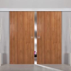 2flügliche Holzschiebetür Dekor Maple wood