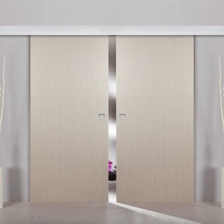 2flügliche Holzschiebetür Dekor Gold Cedar Holztüren