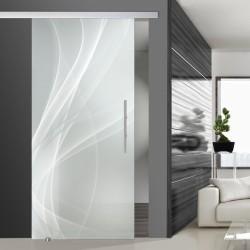 Glasschiebetür SLD 004 S 'Nebel' Schiebetüren mit Lasergravur