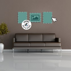 Glasbild mit individuellen Design