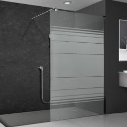 Walkin-Dusche mit Dekor
