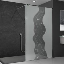 Walkin-Dusche mit Dekor 858-F2