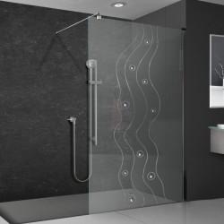 Walkin-Dusche mit Dekor 858-F