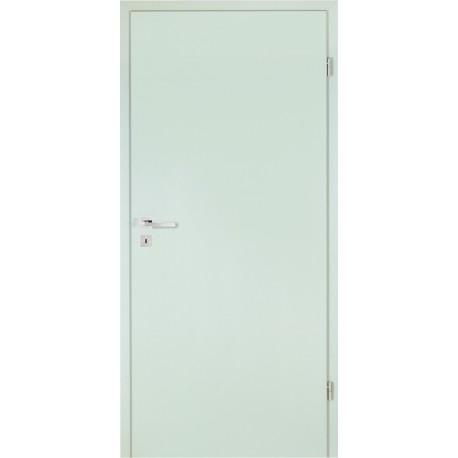 Innentür-Komplettset Perlgrau CPL Tür mit runder Zarge und Drücker