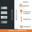 "Vollaluminium Haustür ""Eisenach"" in Anthrazit"