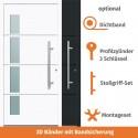 """Vollaluminium Haustür """"Berlin"""" in Weiss"""