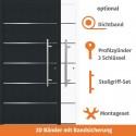 """Vollaluminium Haustür """"Köln"""" in Anthrazit"""