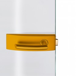 Dorma Glastürbeschlag Arcos Studio Goldgelb RAL1004