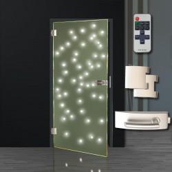 Ganzglastür LED Satinato LED Glastüren