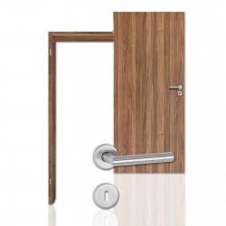 Innentür-Komplettset Nussbaum CPL Tür mit runder Zarge und Drücker