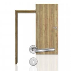 Innentür-Komplettset Eiche Vintage CPL Tür mit runder Zarge und Drücker