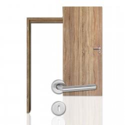Innentür-Komplettset Sonoma Eiche CPL Tür mit runder Zarge und Drücker