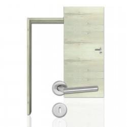Innentür-Komplettset Cross Eiche Nordic CPL Tür mit runder Zarge und Drücker
