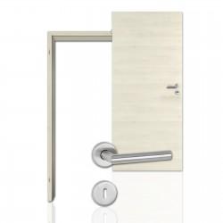 Innentür-Komplettset Cross Aland Pinie Polar CPL Tür mit runder Zarge und Drücker